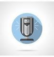 Indoor ionizer round flat icon vector image vector image