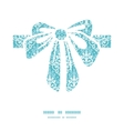 light blue swirls damask gift bow vector image vector image