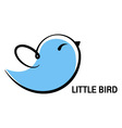 little bird icon vector image vector image