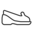 mocassins line icon shoes vector image vector image