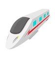 Modern high speed passenger commuter train icon vector image