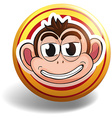 Monkey badge vector image vector image