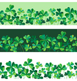 pattern clover borders set vector image vector image