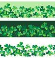 pattern clover borders set vector image