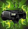 pickup truck vector image