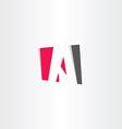 red black letter a business symbol vector image vector image