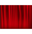 red curtain background vector image vector image