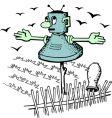 robot scarecrow vector image vector image