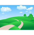 rolling hills background vector image vector image