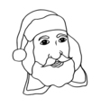 Santa claus face vector image vector image