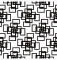 seamless black and white pattern from rectangle vector image vector image