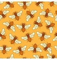 seamless honey bee pattern vector image vector image