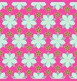 seamless pattern of linear flowers colored vector image