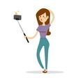 Selfie girl vector image