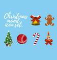 set of christmas mood vector image vector image