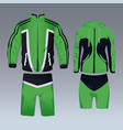 set of sport wear for male and female vector image vector image