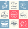 Set Surf Badges Sign and Logos vector image vector image