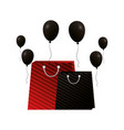 shopping online paper bags and balloons vector image