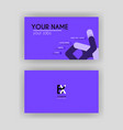 simple business card with initial letter bx vector image vector image