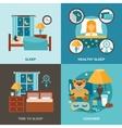 Sleep Time Flat vector image vector image