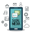 smartphone technology social media design isolated vector image vector image