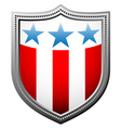 star and stripes badge vector image vector image