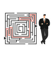 successful businessman labyrinth vector image