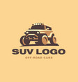 suv logo car emblem color version vector image vector image