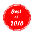 the best of 2015 stamp on white background eps 1 vector image vector image