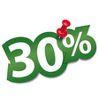 Thirty percent sticker vector image vector image