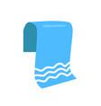 towel for beach isolated cartoon emblem vector image