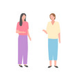 two women talking isolated cartoon ladies vector image