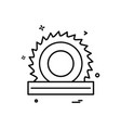 wood cutter icon design vector image vector image