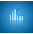 business graph blue vector image