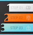modern 3 steps infographics vector image