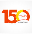 150 years anniversary logo vector image vector image