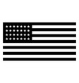 28 star united states flag 1846 vintage vector image vector image