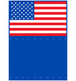 american flag on a blue background vector image vector image