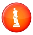 Ancient statue icon flat style vector image vector image