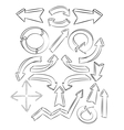 arrows sketchy elements vector image