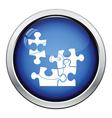 Baby puzzle icon vector image