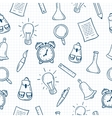 Back to school hand drawn seamless pattern