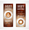 best coffee art banners vector image vector image