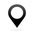 black map pointer icon marker GPS location flag vector image