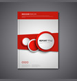 Brochures book or flyer with abstract round red vector image