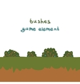 Bushes game element vector image vector image