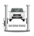 car lifting platform composition vector image vector image