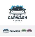 car wash center logo design vector image vector image