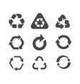 collection of different arrow icons isolated on vector image