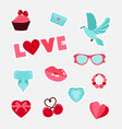 collection of girls stickers isolated vector image